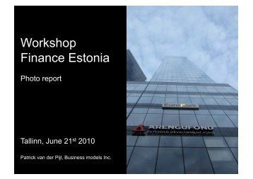 Workshop Finance Estonia - Arengufond