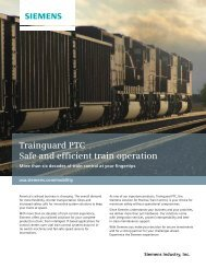 Trainguard PTC Safe and efficient train operation - Siemens
