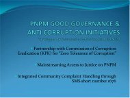 PNPM Good Governance and Anti-Corruption Initiatives, Developed ...