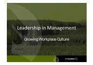 Growing Workplace Culture - PF Olsen Limited