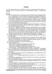 Protokoll 46b 09-06-2009 - Hittisau