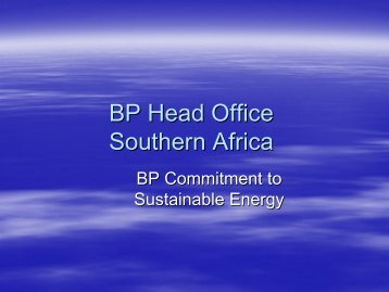 BP Commitment to Sustainable Energy