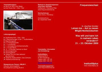 21.Oktober 2009 Color Line Schröder 3 - Institut50plus