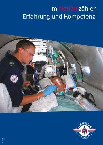 Im Notfall zählen Erfahrung und Kompetenz! - Luxembourg Air Rescue