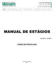 MANUAL DE ESTÁGIOS - Unoeste