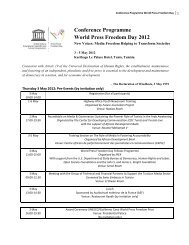 UNESCO World Press Freedom Day 2012 - Conference ... - amarc