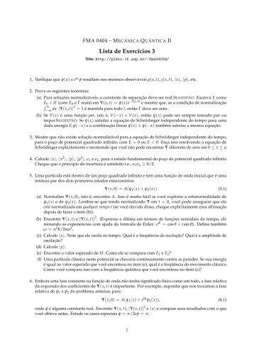 Lista de Exercícios 3 - Plato - USP
