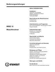 Bedienungsanleitungen IWDE 12 Waschtrockner - Indesit