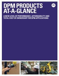 DPM Products at a Glance brochure - Brochures - Motorola Solutions