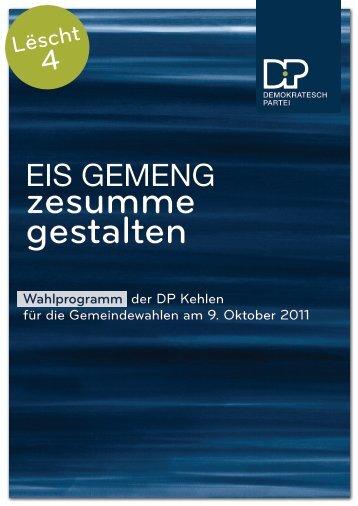 gestalten zesumme - Kehlen - DP