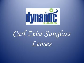 Carl Zeiss Sunglass Lenses