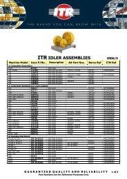 ITR IDLER ASSEMBLIES - VR Trading