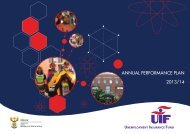 UIF Annual Peformance Plan 2013 - 2014.pdf - Department of Labour