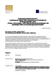 Programm - Hirschfeld-Eddy-Stiftung
