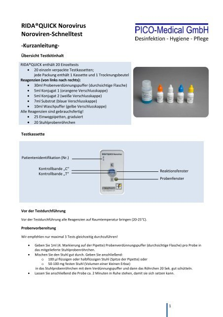 RIDA®QUICK Norovirus Noroviren-Schnelltest - PICO-Medical GmbH