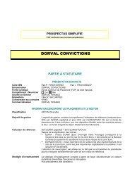 Prospectus DORVAL CONVICTIONS - Haussmann Patrimoine