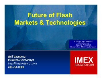 Future of Flash Markets & Technologies - IDEMA