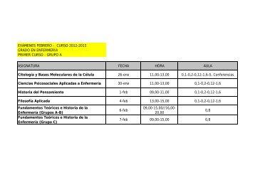 Examenes Enfermería Grado 2012-13 - La UFV