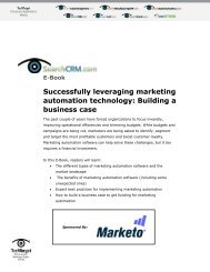 Successfully leveraging marketing automation technology ... - Marketo