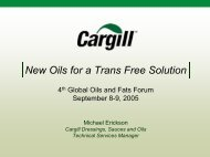 New Oils for a Trans Free Solution - American Palm Oil Council
