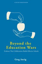 first chapter of Beyond the Education Wars - The Century Foundation