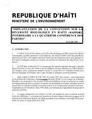 Implantation de la convention sur la diversité biologique en Haïti