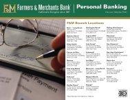Personal Banking Brochure - Farmers & Merchants Bank