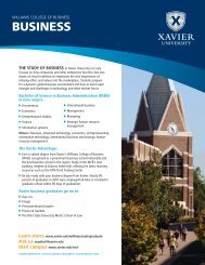 BUSINESS - Xavier University