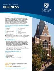BUSINESS - Xavier University