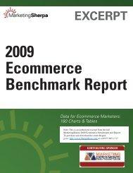 2009 Ecommerce Benchmark Report - MarketingSherpa