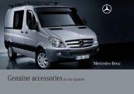 Genuine accessories for the Sprinter - Mercedes-Benz Österreich