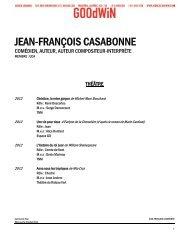 JEAN-FRANÇOIS CASABONNE - Agence Goodwin