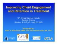 Improving Client Engagement and Retention in ... - the ATTC Network
