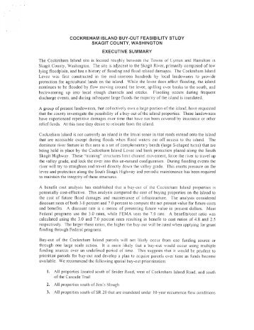 Cockreham Island Buy-Out Feasibility Study Executive Summary