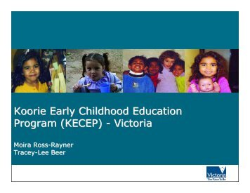 Koorie Early Childhood Education Program - Secretariat of National ...
