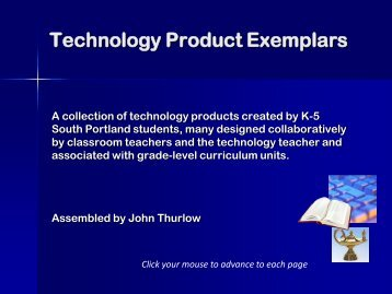 Technology Product Exemplars (PDF) Large File ... - JohnThurlow.com