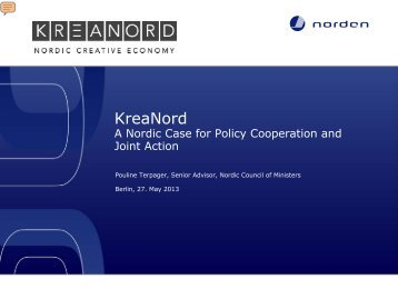KreaNord. A Nordic Case for Policy Cooperation and Joint Action