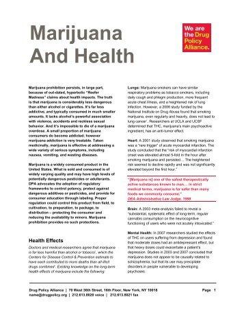 PDF Marijuana and Health - Drug Policy Alliance