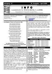 April 2009 INFO - Leukämiehilfe RHEIN-MAIN geV