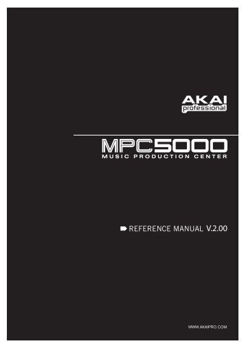 MPC5000 Manual - Platinum Audiolab