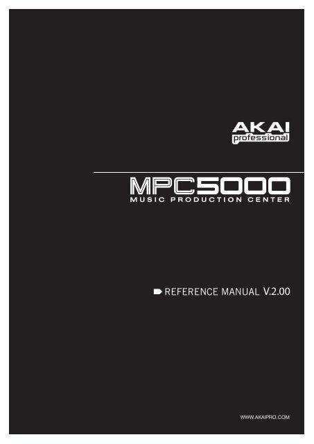 MPC5000 Manual - Platinum Audiolab