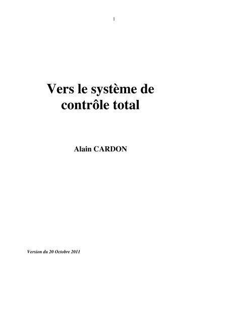 Vers le système de contrôle total. 2011 - Admiroutes