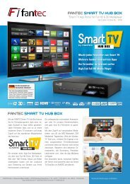 FANTEC SMART TV HUB BOX FANTEC SMART TV ... - Ingram Micro
