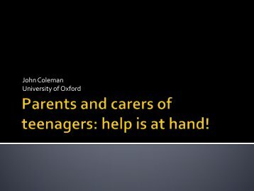 Parents and carers of teenagers: help is at hand! - UNESCO Child ...
