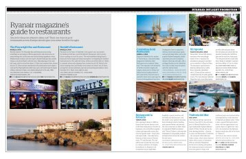 Ryanair magazine's guide to restaurants - Let's Go with Ryanair