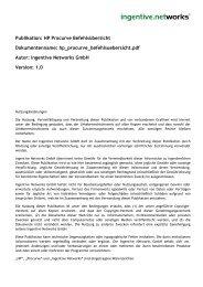 HP Procurve Befehlsuebersicht - Ingentive Networks GmbH