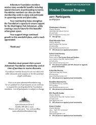 Member Discount Program - The Arboretum Foundation
