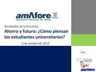 Amafore Ahorro y Futuro - Como piensan los estudiantes universitarios
