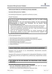 Paracetamol 500 mg Heumann Tabletten, Tabletten