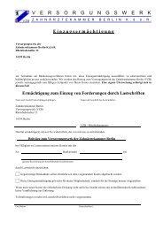 Versorgungswerk der Zahnärztekammer Berlin